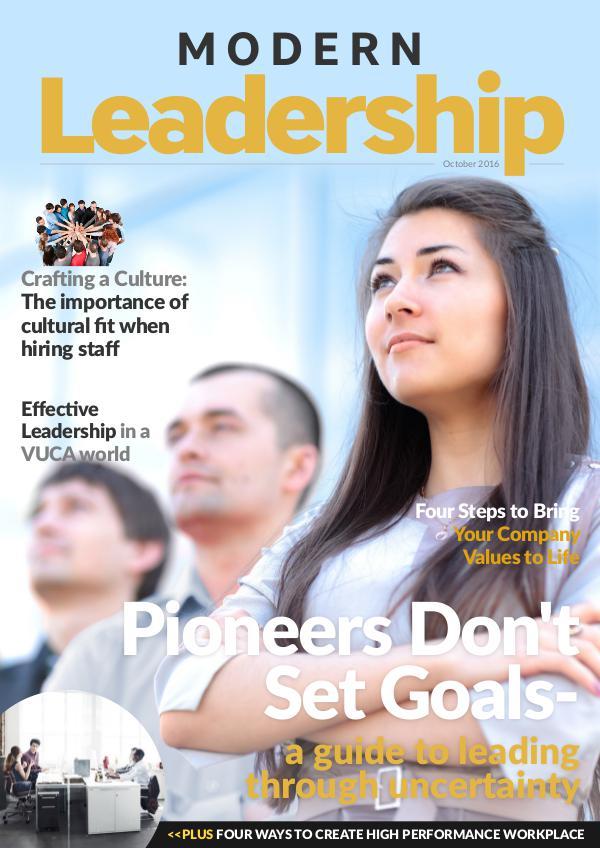 Modern Leadership Magazine October 2016