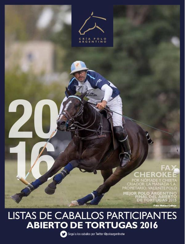 Listas Raza Polo Argentino Abierto de Tortugas 2016