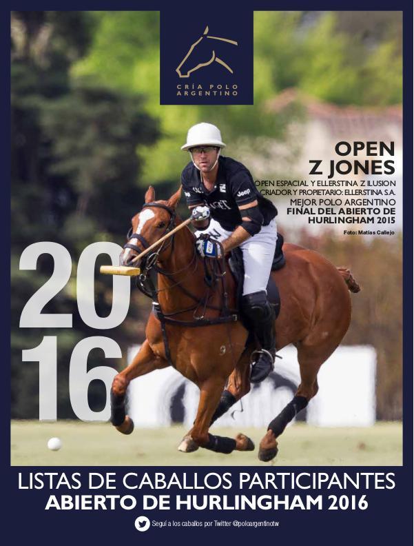 Listas Raza Polo Argentino Hurlingham 2016