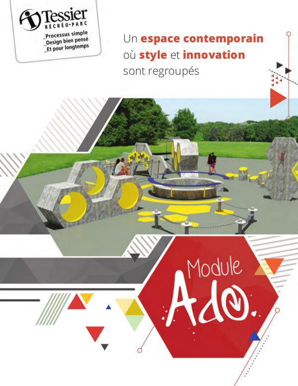 Mobilier et accessoires urbains Dépliant Module Ado