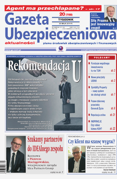 Gazeta Ubezpieczeniowa - prenumerata nr 20/2014
