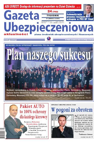 Gazeta Ubezpieczeniowa - dodatki specjalne 24/2014 PZU SA