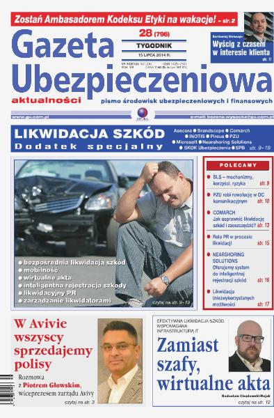 Gazeta Ubezpieczeniowa - wydanie elektroniczne nr 28/2014