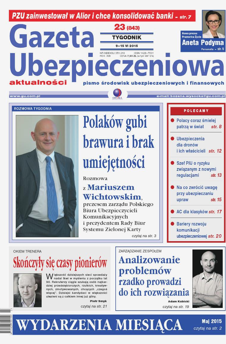 Gazeta Ubezpieczeniowa - wydanie elektroniczne nr 23/2015