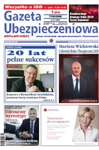 Gazeta Ubezpieczeniowa - wydanie elektroniczne nr 1-2016