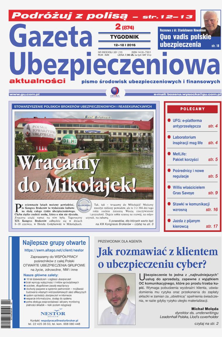 Gazeta Ubezpieczeniowa - wydanie elektroniczne nr 2-2016