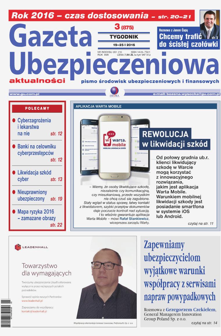 Gazeta Ubezpieczeniowa - wydanie elektroniczne nr 3-2016