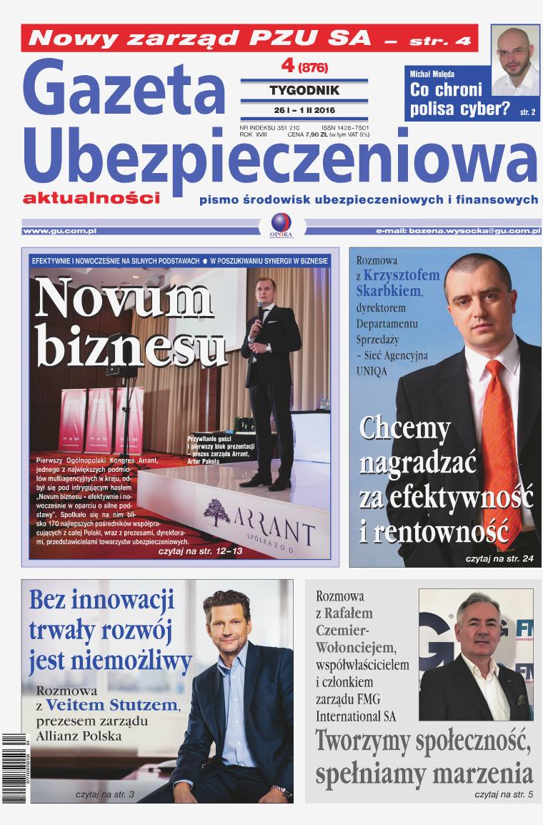 Gazeta Ubezpieczeniowa - wydanie elektroniczne nr 4-2016