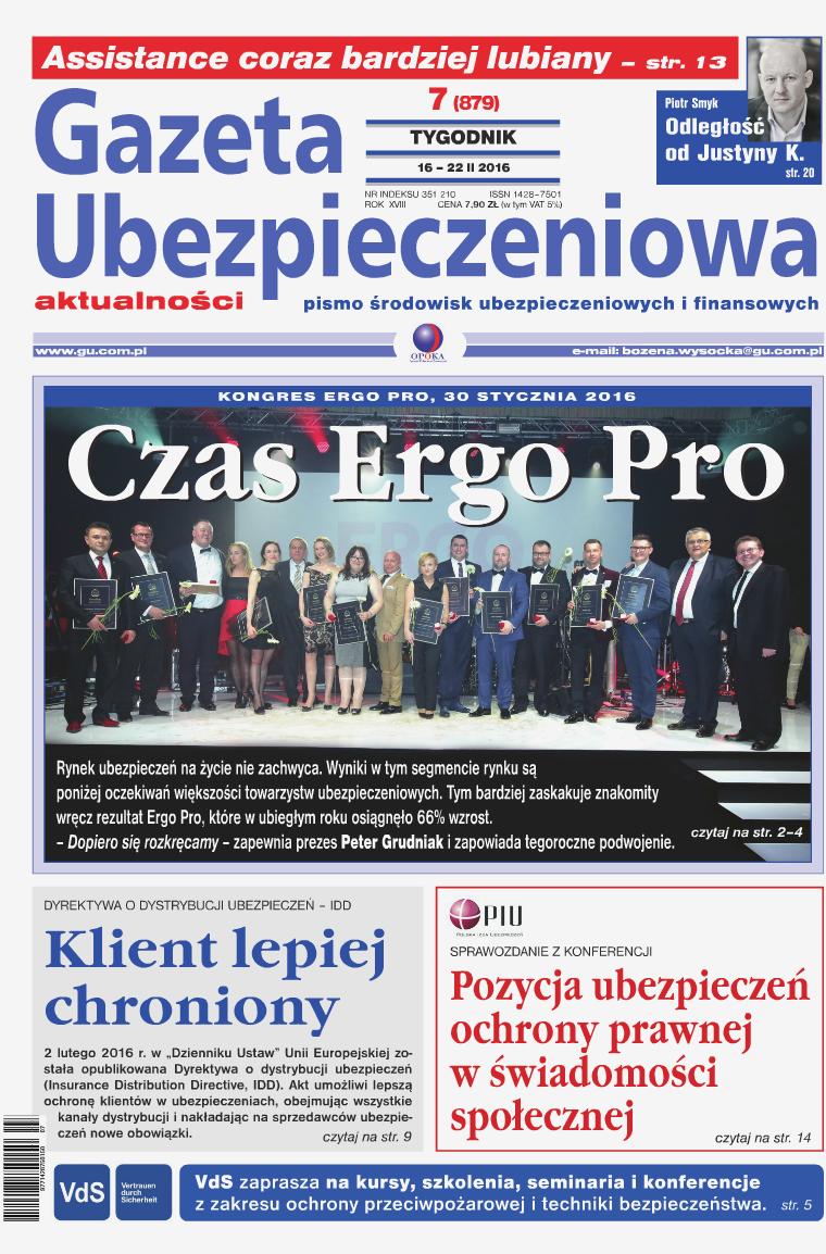 Gazeta Ubezpieczeniowa - wydanie elektroniczne nr 7-2016