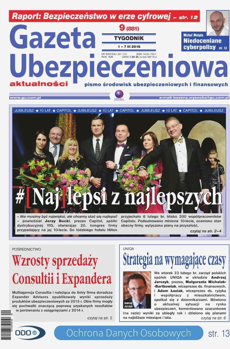 Gazeta Ubezpieczeniowa - wydanie elektroniczne nr 9-2016