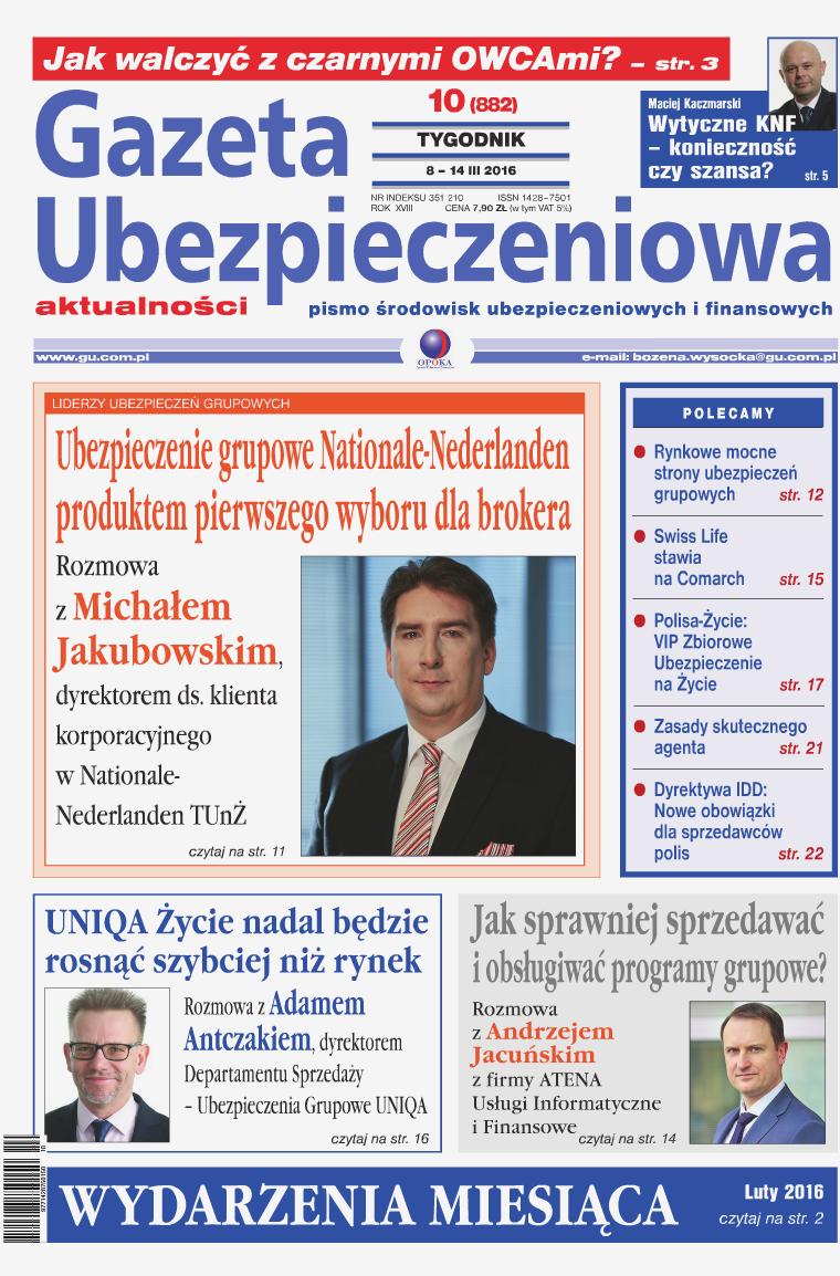 Gazeta Ubezpieczeniowa - wydanie elektroniczne nr 10-2016