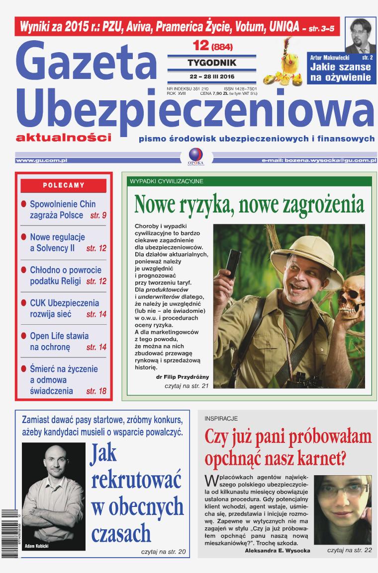 Gazeta Ubezpieczeniowa - wydanie elektroniczne nr 12-2016