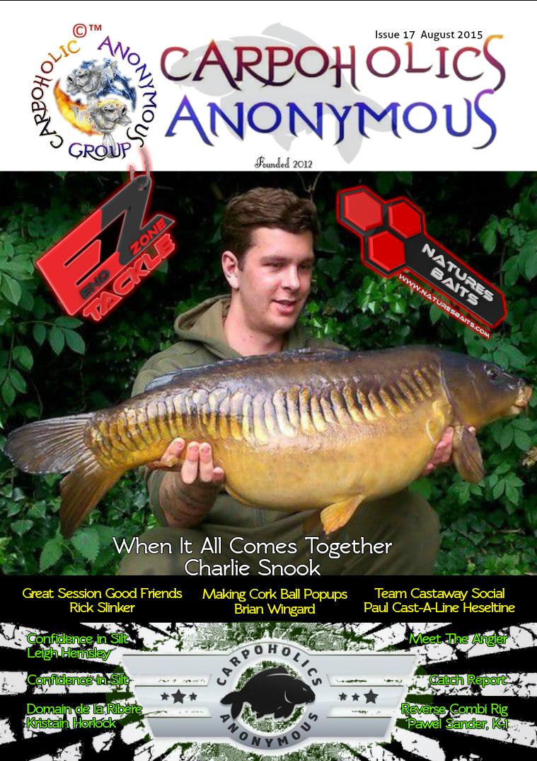 Carp Angler Magazine CAM, Carpoholic Anonymous Issue 17, August 2015