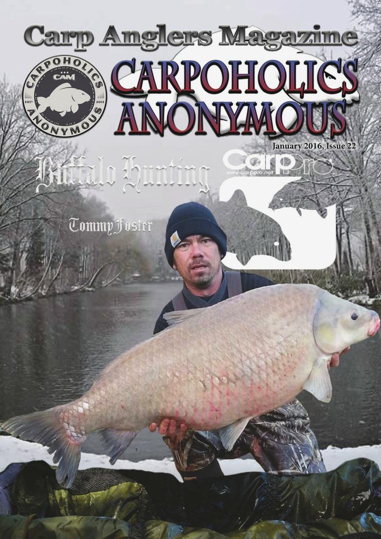 Carp Angler Magazine CAM, Carpoholic Anonymous Issue 22, January 2016