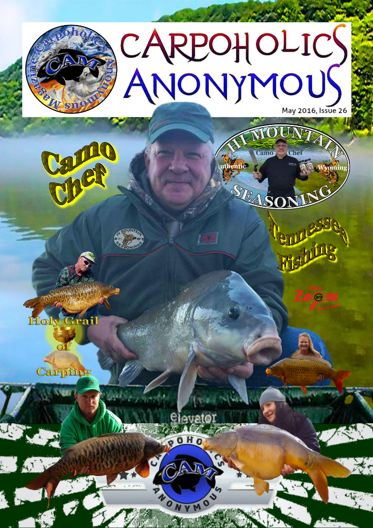 Carp Angler Magazine CAM, Carpoholic Anonymous Issue 26, May 2016
