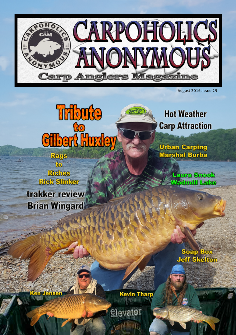 Carp Angler Magazine CAM, Carpoholic Anonymous Issue 29, August 2016