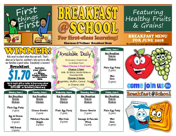 Rush-Henrietta CSD 4-6 breakfast