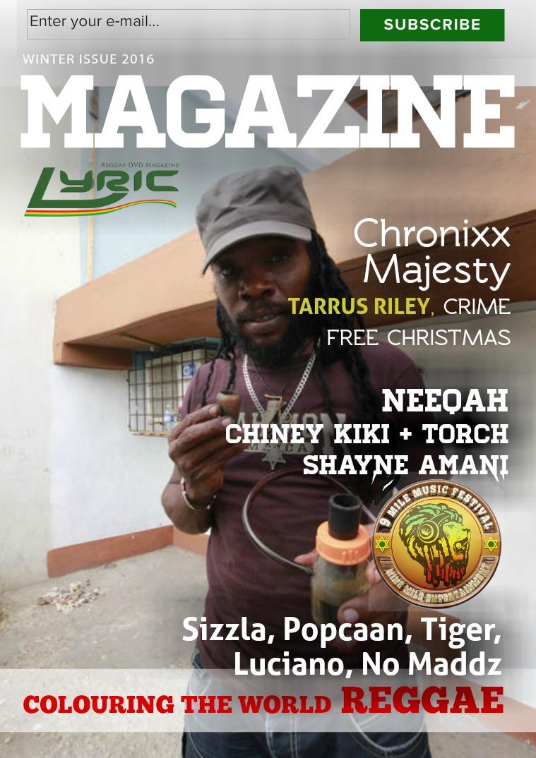 Lyric Digital Reggae Magazine Winter 2016
