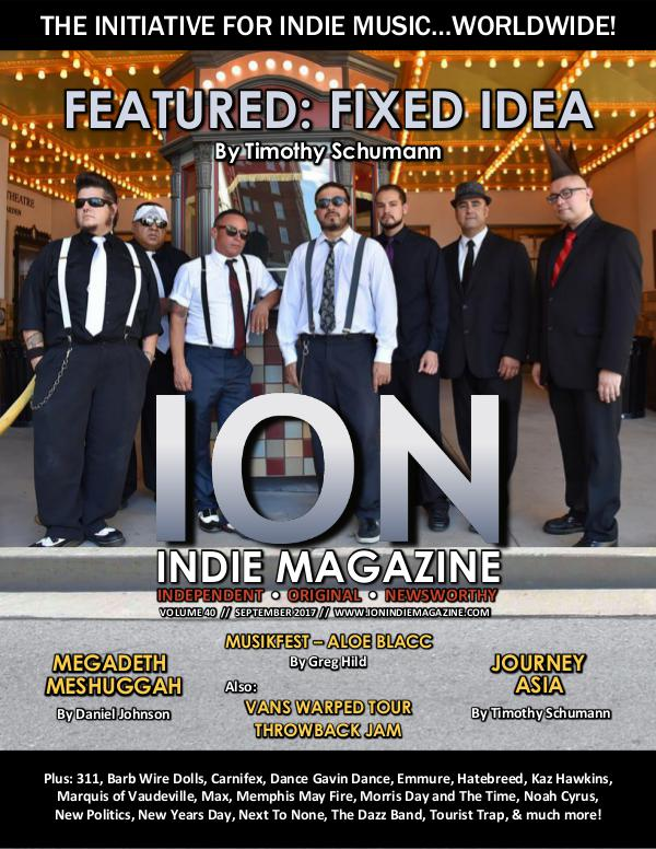 ION INDIE MAGAZINE September 2017, Volume 40
