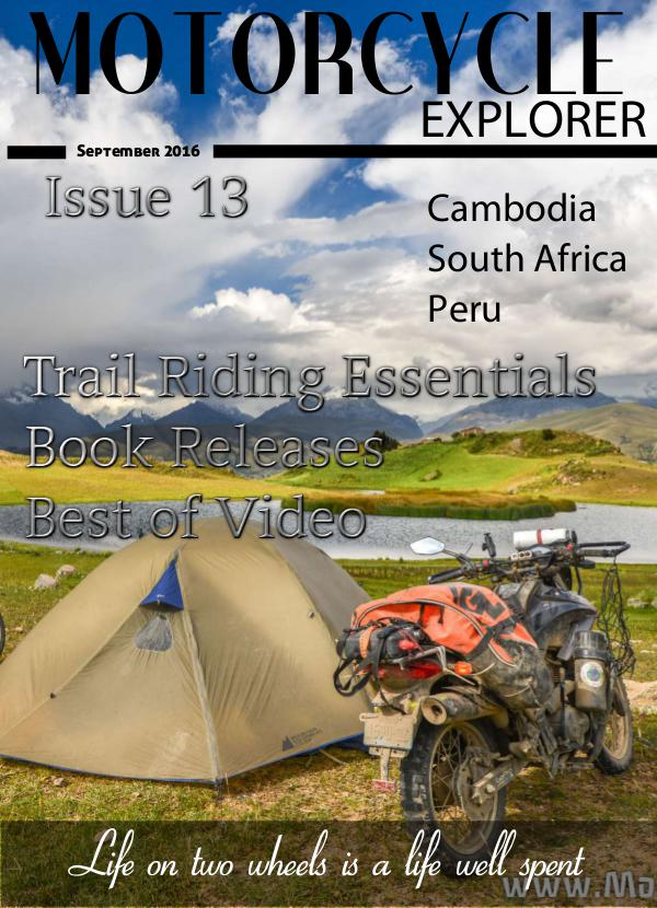 Motorcycle Explorer September 2016 Issue 13