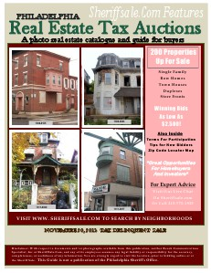 November 20, 2013 Tax Delinquent Paid Real Estate Auction Guide Paid