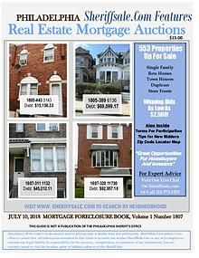Philadelphia's July Foreclosure Auction Guide
