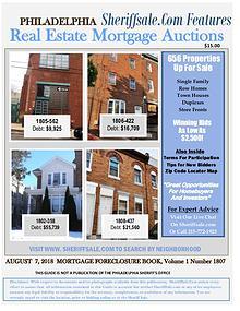 Foreclosure Guide Philadelphia Aug 2018