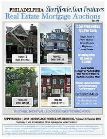 September Philadelphia Foreclosure Color Photo Guide