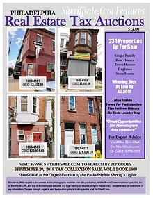 September 20 Philadelphia Tax Auction Color Photo Guide