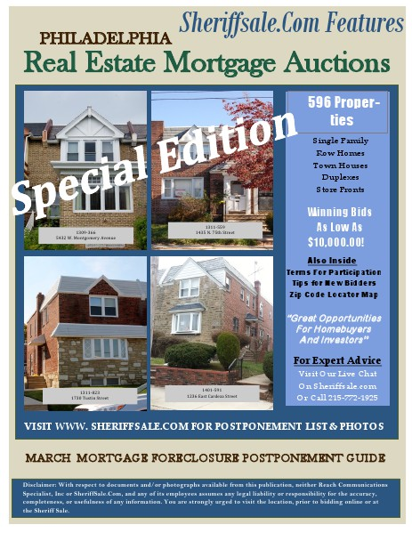MARCH 4, 2014 MORTGAGE FORECLOSURE PP  Ver MARCH MORTGAGE FORECLOSURE Volume 3 Number 1