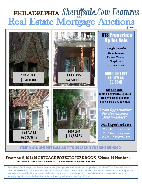 December 2, 2014 Mortgage Foreclosure Auction Dec 2, 2014 Real Estate Auction Guide NM