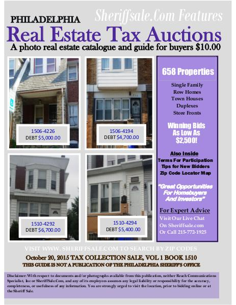 Oct 20th GRB Tax October 20, 2015 GRB Propery Tax Auction Guide