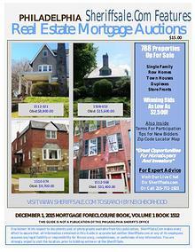 December 1, 2015 Philadelphia Mortgage Foreclosure Sale