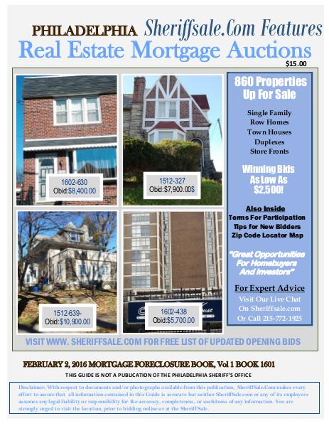 Monthly Guide to Buying Foreclosures In America's Fifth Largest City Feb 2 2016 Non member