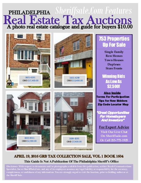 Guide To Buying April Tax Sale Properties Philadelphia Guide To Buying April Tax Sale Properties Ph