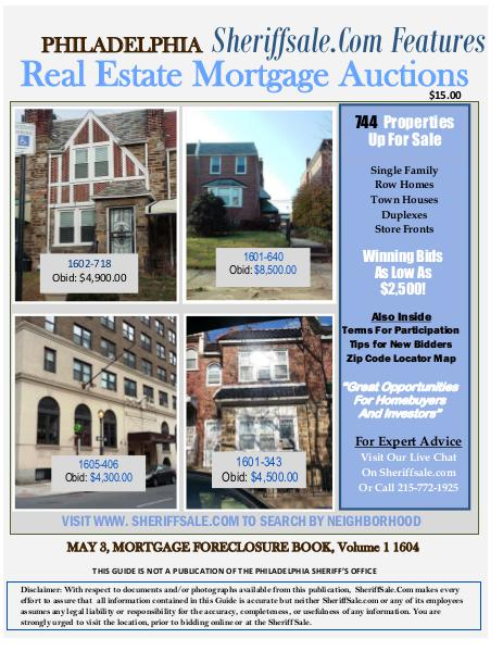 Guide To Buying Foreclosures In Philadelphia May Edition Guide To Buying Foreclosures In Philadelphia