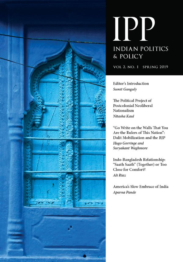 Indian Politics & Policy Volume 2, Number 1, Spring 2019