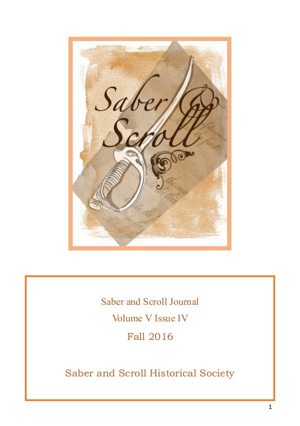 Volume 5, Issue 4, Fall 2016