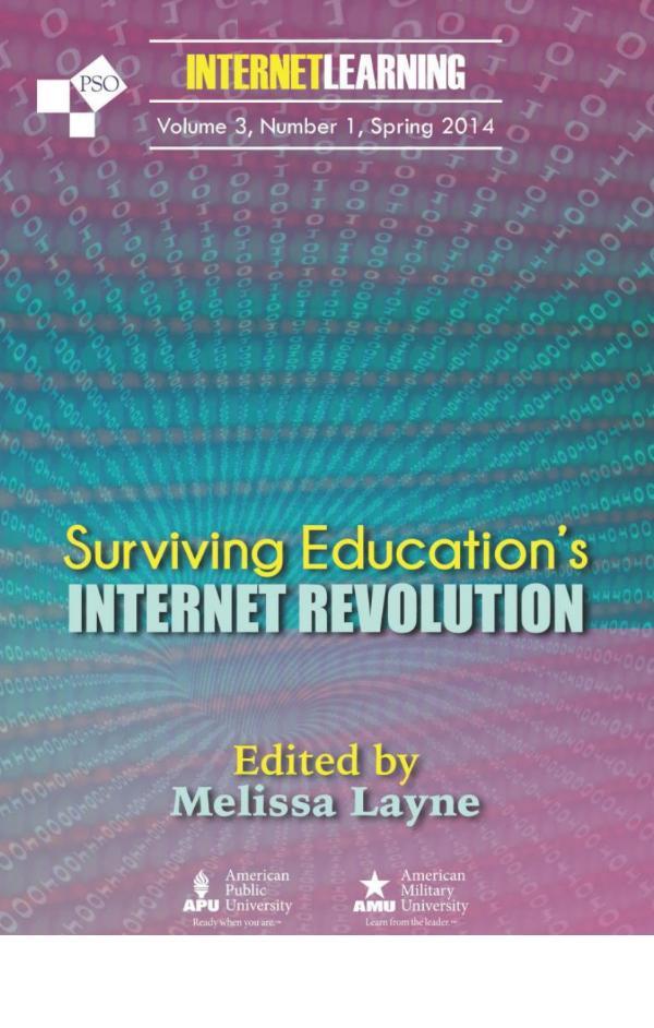 Internet Learning Volume 3, Number 1, Spring 2014