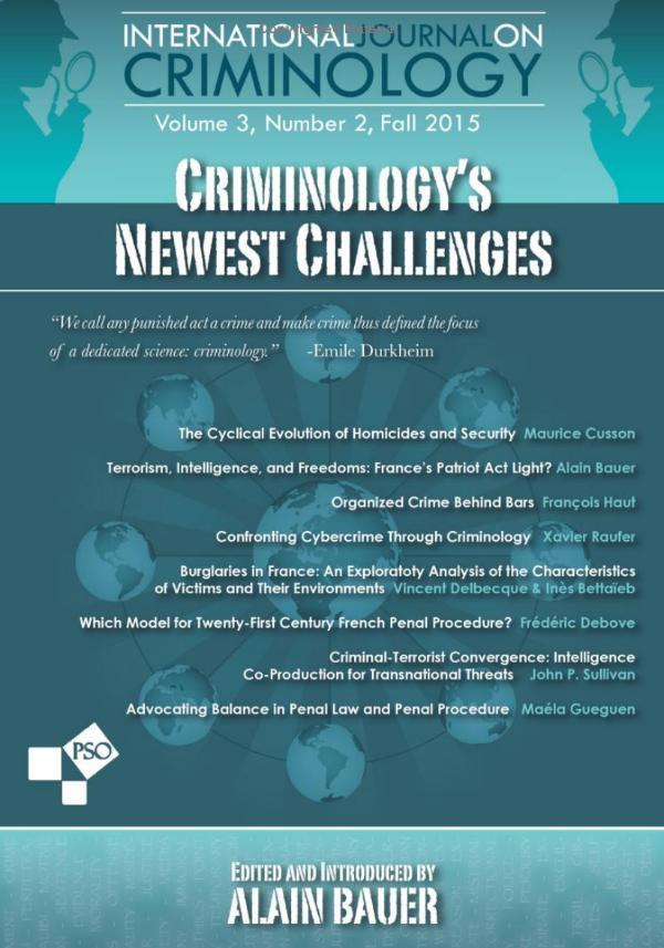 International Journal on Criminology Volume 3, Number 2, Fall 2015