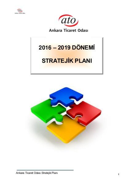 ATO Stratejik Planı 2016-2019