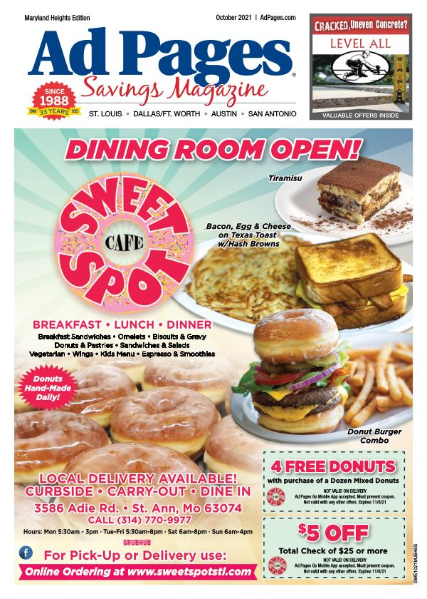 Maryland Heights, MO Ad Pages Savings Magazine