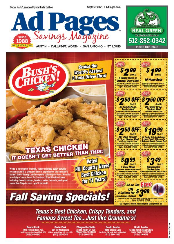 Cedar Park/Leander, TX Ad Pages Savings Magazine