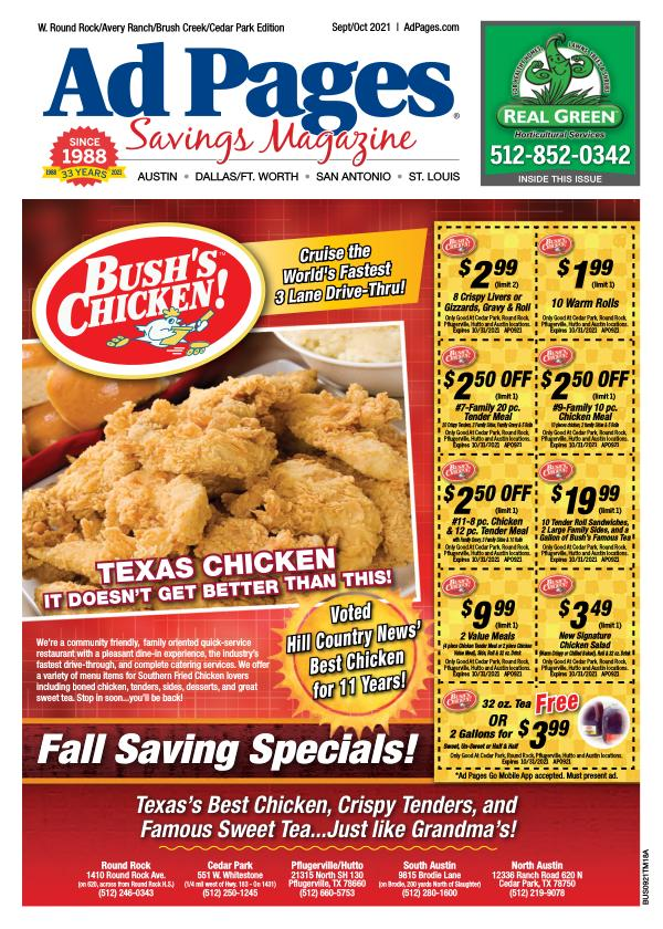 W. Roundrock/Avery Ranch, TX Ad Pages Savings Magazine