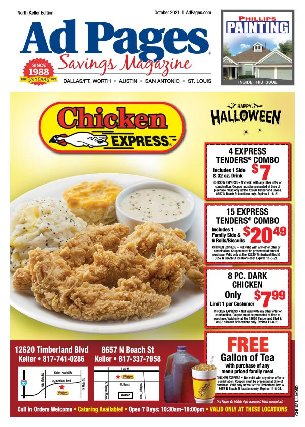 Keller TX Ad Pages Coupon Magazine