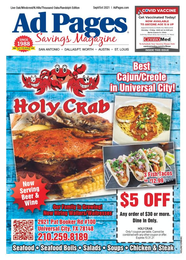 Live Oak/Northern Hills, TX Ad Pages Coupon Magazine