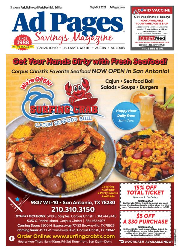 Shavano Park/Hollywood Park, TX Ad Pages Coupon Magazine