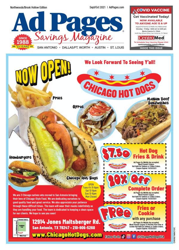 Northwoods/Brook Hollow, TX Ad Pages Coupon Magazine