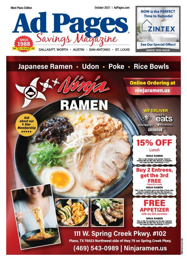 West Plano, TX Ad Pages Coupon Magazine