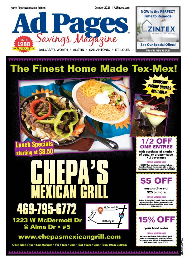 N. Plano, TX Ad Pages Coupon Magazine